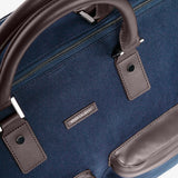 Men's Twill Garment Weekender Bag in Navy by Hook & Albert
