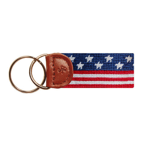 Old Glory Needlepoint Key Fob by Smathers & Branson