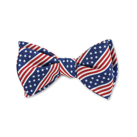 Patriotic Bow Tie in Blue by R. Hanauer