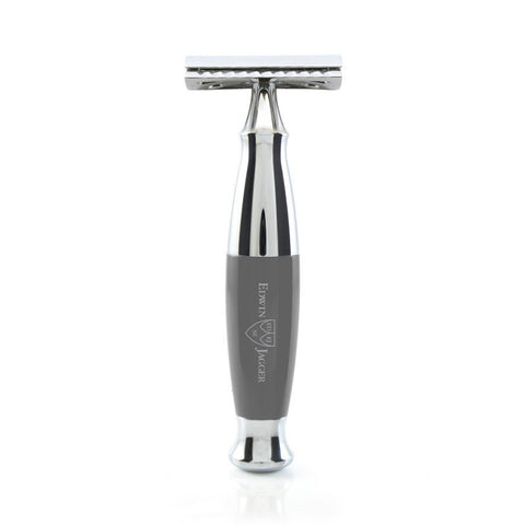 DE Safety Razor in Grey and Chrome by Edwin Jagger