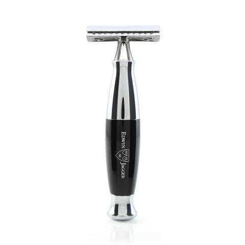 DE Safety Razor in Black and Chrome by Edwin Jagger