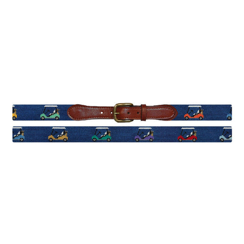 Rainbow Golf Carts Needlepoint Belt by Smathers & Branson