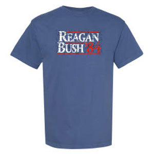 Reagan Bush 84 Tee in Blue by Logan's