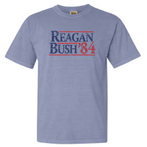 Reagan Bush 84 Tee in Ice Blue by Logan's