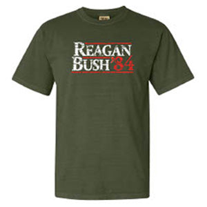 Reagan Bush 84 Tee in Olive by Logan's