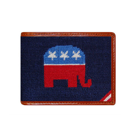 Republican Needlepoint Wallet by Smathers & Branson