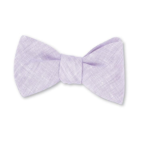 Rishra Linen Bow Tie in Lavender by R. Hanauer