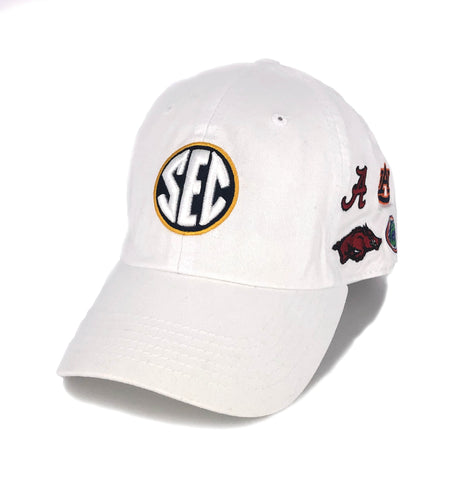 SEC Hat in White by Top of the World