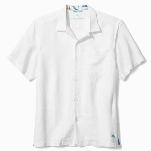 Sea Glass Camp Shirt in White by Tommy Bahama