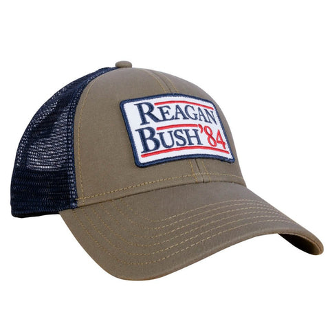 d96910d8870a3 Reagan Bush  84 Meshback Hat in Khaki by Rowdy Gentleman