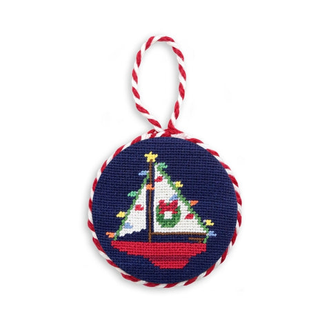 Christmas Sailboat Needlepoint by Smathers & Branson