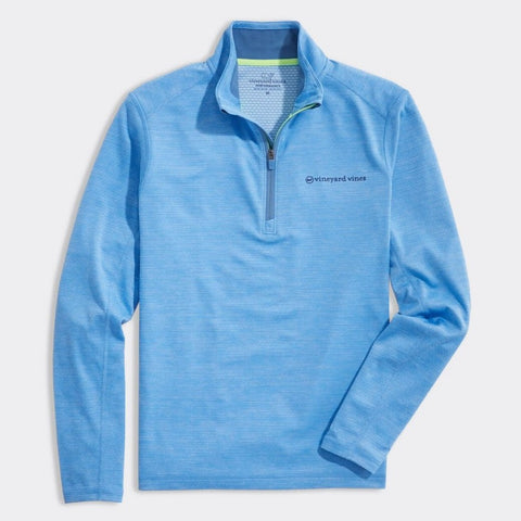 Sankaty Performance Quarter Zip in Coastline by Vineyard Vines