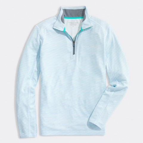 Sankaty Performance Quarter Zip in White Cap by Vineyard Vines