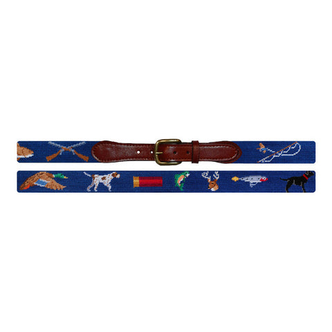 Southern Sportsman Needlepoint Belt by Smathers & Branson