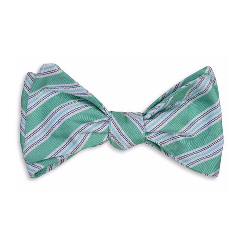 Spinnaker Stripe Bow Tie in Bermuda by High Cotton