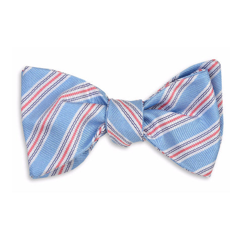Spinnaker Stripe Bow Tie in Blue by High Cotton