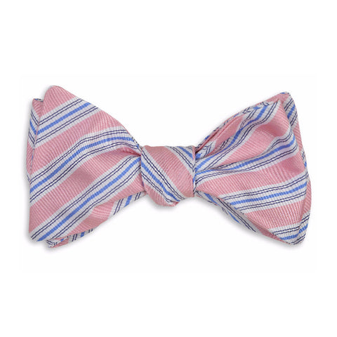 Spinnaker Stripe Bow Tie in Pink by High Cotton