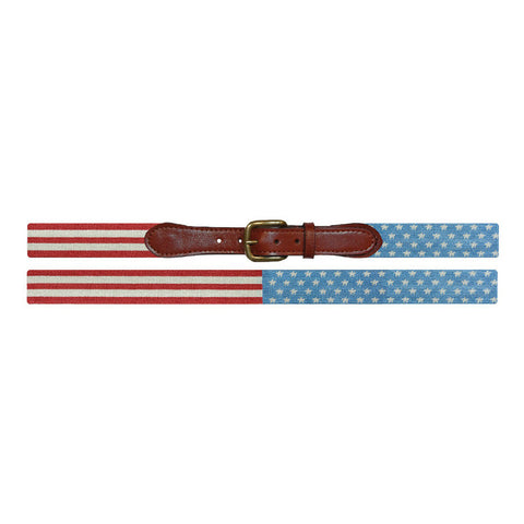 Stars and Stripes Needlepoint Belt by Smathers & Branson
