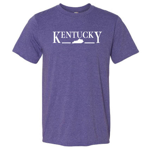 Kentucky State Logo Tee in Heather Purple by Logan's