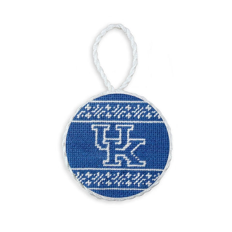 Kentucky Fairisle Needlepoint Ornament (Blue) by Smathers & Branson