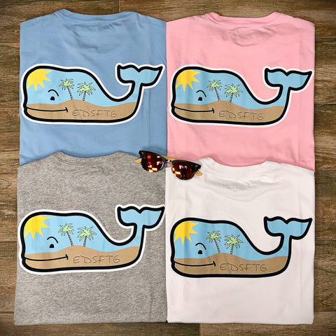 Beach Whale Short Sleeve Tee in 3 Colors by Vineyard Vines