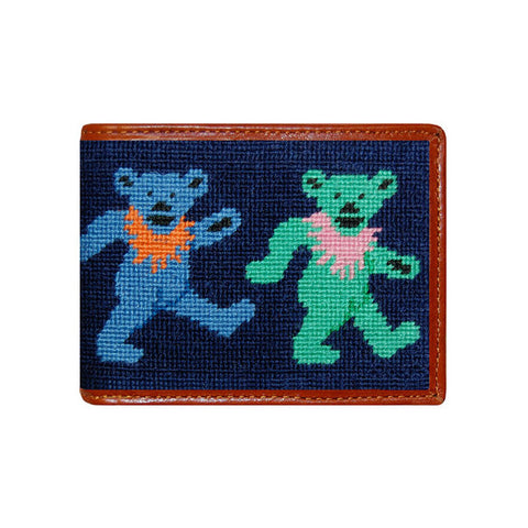 Dancing Bears Needlepoint Wallet by Smathers & Branson