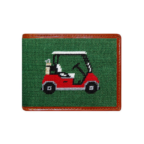 Golf Cart Needlepoint Wallet by Smathers & Branson