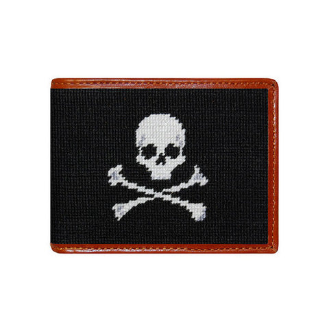 Jolly Roger Needlepoint Wallet by Smathers & Branson