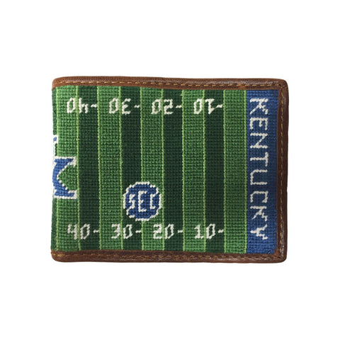 University of Kentucky Commonwealth Stadium Kroger Field Needlepoint Wallet by Smathers & Branson