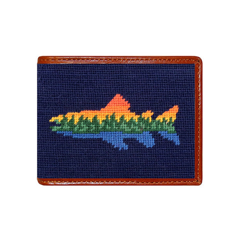 Lake Trout Needlepoint Wallet by Smathers & Branson