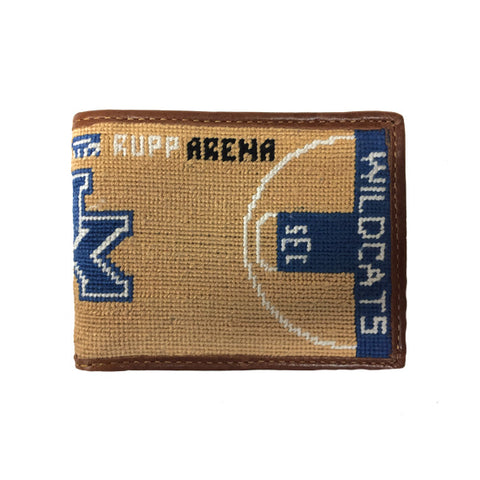 University of Kentucky Rupp Arena Floor Needlepoint Wallet by Smathers & Branson