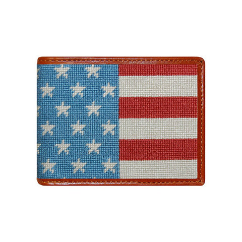 Stars and Stripes Needlepoint Wallet by Smathers & Branson
