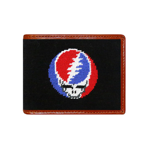 Steal Your Face Needlepoint Wallet by Smathers & Branson