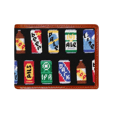 Beer Cans Needlepoint Wallet by Smathers & Branson