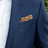 Wayside Feather Pocket Square by Brackish