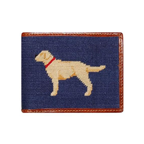 Yellow Lab Needlepoint Wallet by Smathers & Branson