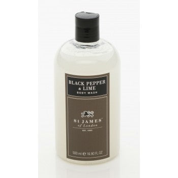 Black Pepper & Lime Body Wash by St. James of London