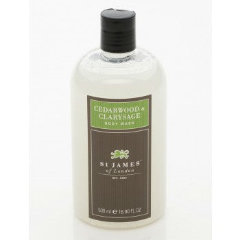 Cedarwood & Clarysage Body Wash by St. James of London
