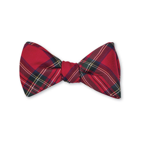 Prince of Wales Silk Bow Tie by R. Hanauer