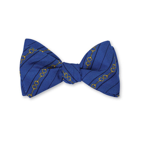 Bit Silk Bow Tie in Blue by R. Hanauer