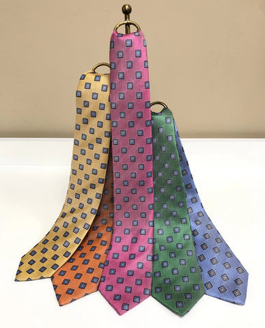 Neat Box Silk Neck Tie in 5 colors by David Donahue