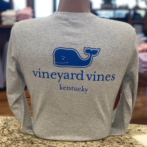 Kentucky Long Sleeve Tee in Grey by Vineyard Vines