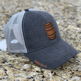 Single Barrel Bourbon Trucker Hat in Charcoal by Logan's of Lexington