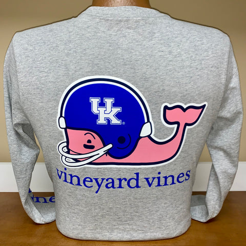 Kentucky Wildcats Long Sleeve Helmet Tee in 2 Colors by Vineyard Vines