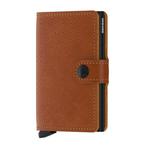 Miniwallet in Perforated Cognac by Secrid