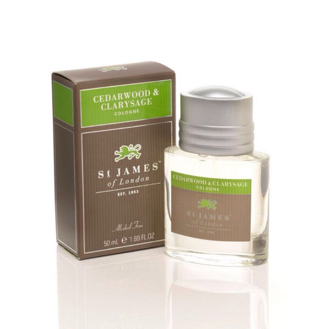 Cedarwood & Clarysage Cologne by St. James of London