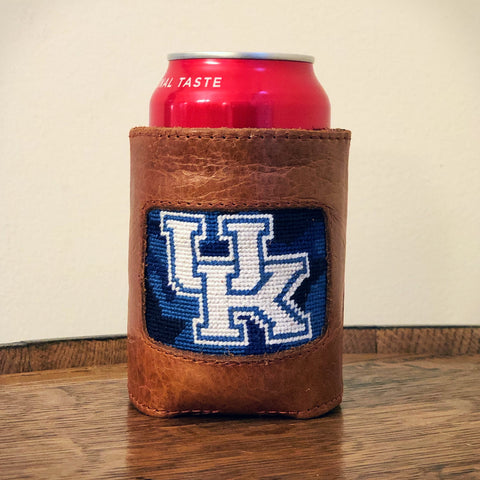 University of Kentucky Blue Camo Needlepoint Can Cooler by Smathers & Branson
