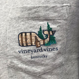 Long-Sleeve Kentucky Bourbon Barrel Whale Pocket T-Shirt in Grey by Vineyard Vines