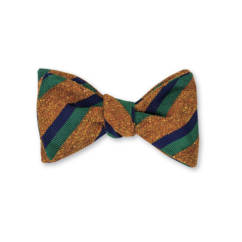 Cumberland Stripes Bow Tie in Henna by R. Hanauer