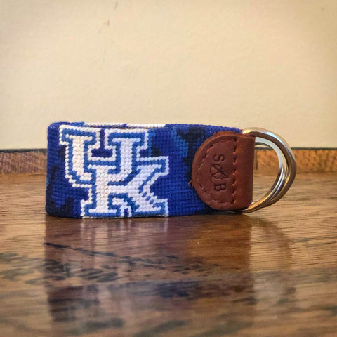 University of Kentucky Blue Camo Needlepoint Key Fob by Smathers & Branson
